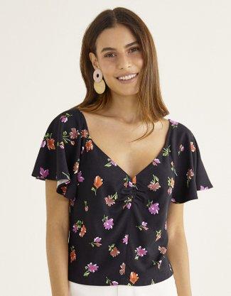 Blusa Estampada Shoulder