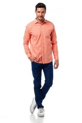 Camisa Forum Laranja Slim Fit