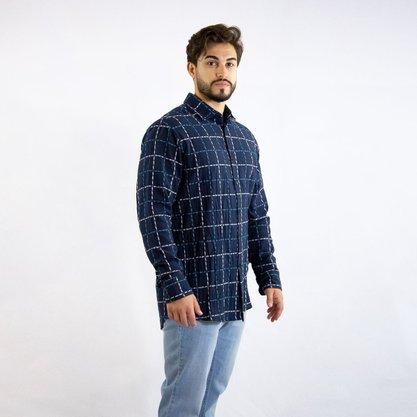 Camisa Forum Xadrez Azul