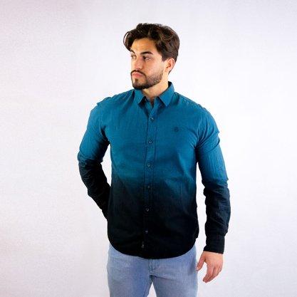 Camisa John John Degrade Azul