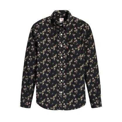 Camisa Levis Floral Preto