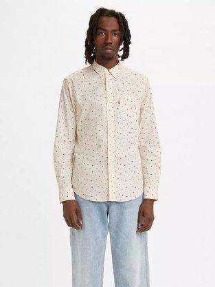 Camisa Levis Off White Estampada
