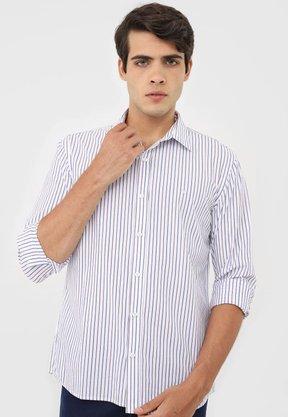 Camisa VR Listrada Branco
