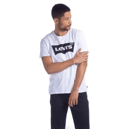 Camiseta Levis Branca e Logo Preto