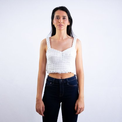 Cropped Hit Off White