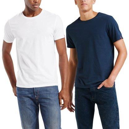 Kit Camiseta Levis Branco/Azul