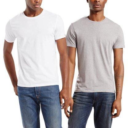 Kit Camiseta Levis Cinza/Branco