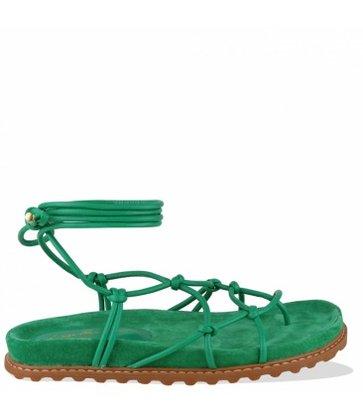 Sandália Papete de Amarraçao Verde Luiza Barcelos