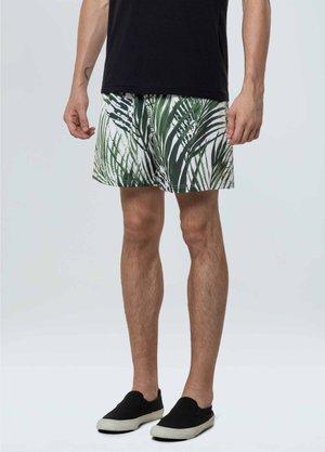 Shorts Osklen Estampado Branco e Verde