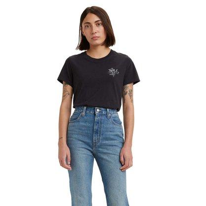 T-shirt Levis Preta Estampa Flores