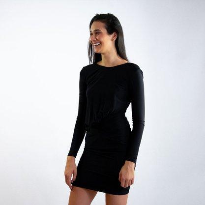 Vestido Más Animale Preto Curto